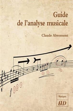 Guide de l'analyse musicale Claude ABROMONT Livre laflutedepan