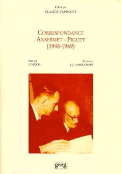 Correspondance Ansermet-Piguet : 1948-1969 - laflutedepan.com