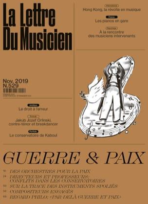 La Lettre du musicien n°529 : Guerre et Paix - laflutedepan.com