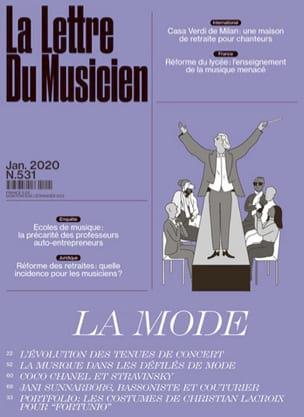 La lettre du musicien n°531 (janv. 2020) Revue Livre laflutedepan