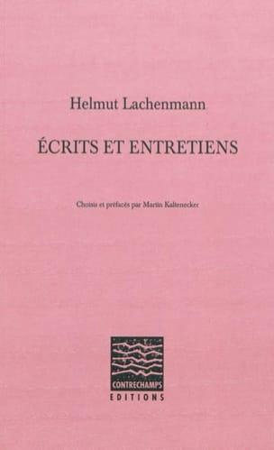 Écrits et entretiens Helmut LACHENMANN Livre Les Hommes - laflutedepan