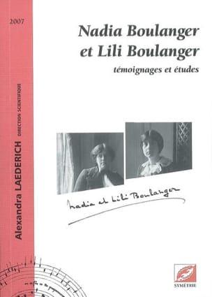 Nadia Boulanger et Lili Boulanger : témoignages et études laflutedepan