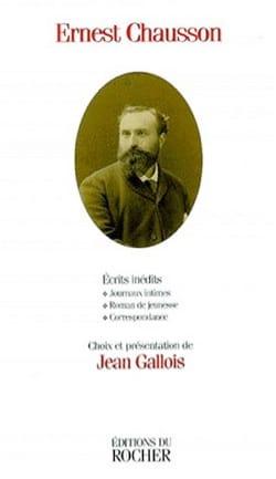 Écrits inédits - Ernest CHAUSSON - Livre - laflutedepan.com