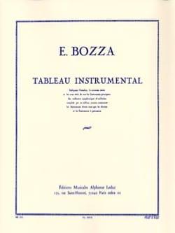 Tableau instrumental Eugène BOZZA Livre laflutedepan