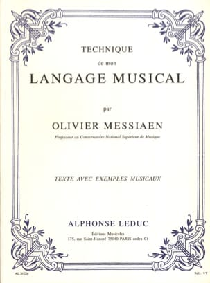 Olivier MESSIAEN - Technique of my musical language - Book - di-arezzo.com