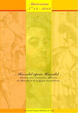 Revue - Musicorum, n° 14 (2013) : Haendel après Haendel - Livre - di-arezzo.fr
