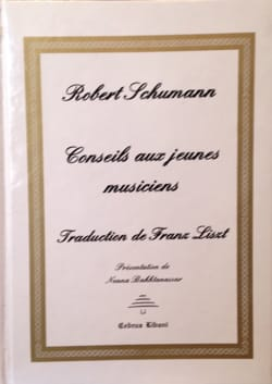 Robert SCHUMANN - Tips for young musicians - Book - di-arezzo.co.uk