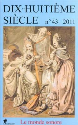 Dix-huitième siècle n°43 - Thomas dir. VERNET - laflutedepan.com