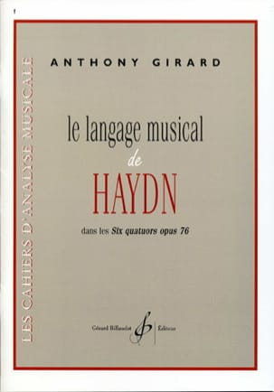 Anthony GIRARD - The musical language of Haydn in the six quartets opus 76 - Book - di-arezzo.co.uk