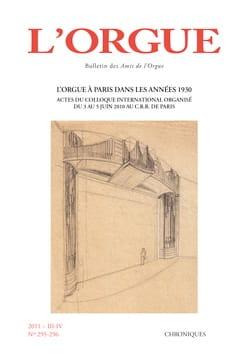 L'orgue, n° 295-296 (2011/III-IV) Revue Livre Revues - laflutedepan