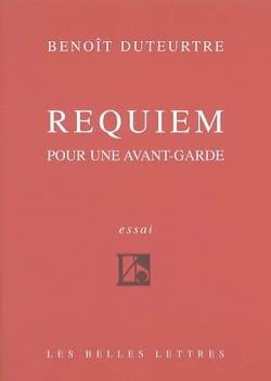 Requiem pour une avant-garde Benoît DUTEURTRE Livre laflutedepan