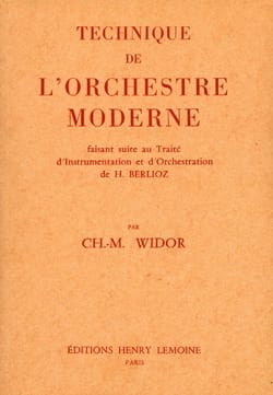 WIDOR Charles-Marie - Technique de l'orchestre moderne - Livre - di-arezzo.fr