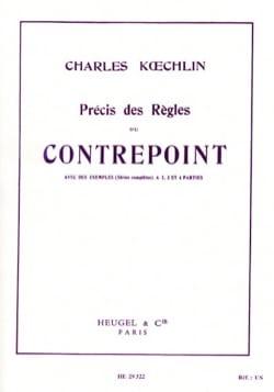 Précis des règles du contrepoint Charles KOECHLIN Livre laflutedepan