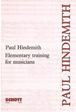 Elementary training for musicians Paul HINDEMITH Livre laflutedepan