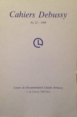 Cahiers Debussy, n° 22 Collectif Livre Les Hommes - laflutedepan