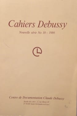 Cahiers Debussy, n° 10 - Collectif - Livre - laflutedepan.com
