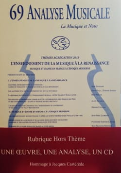 Analyse musicale n° 69 Revue Livre Analyse musicale - laflutedepan