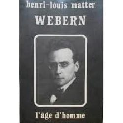 Webern - Henri Louis Matter - Livre - Les Hommes - laflutedepan.com