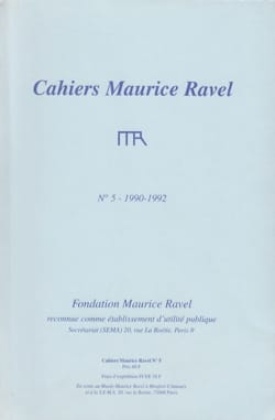 Revue - Cahiers Maurice Ravel, n° 5 (1990-1992) - Livre - di-arezzo.fr