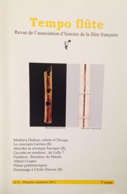 Revue - Tempo flûte n° 5 (Premier semestre 2012) - Livre - di-arezzo.fr