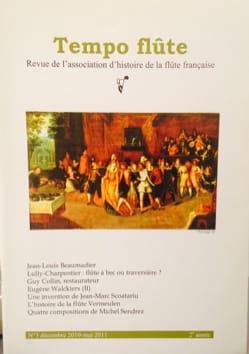 Tempo flûte n° 3 (Décembre 2010 - Mai 2011) Revue Livre laflutedepan
