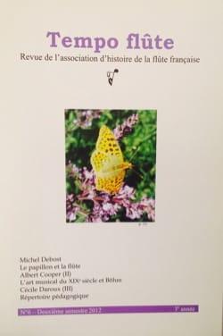 Revue - Tempo flûte n° 6 (Deuxième semestre 2012) - Livre - di-arezzo.fr