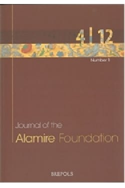 Collectif - Journal of the Alamire Foundation 4/1 - 2012 - Livre - di-arezzo.fr