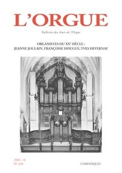 L'Orgue, n° 290 (2010/II) Revue Livre Revues - laflutedepan