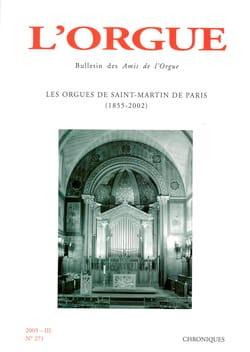 L'Orgue, n° 271 (2005/III) Revue Livre Revues - laflutedepan
