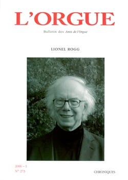 L'orgue, n° 273 (2006/I) Revue Livre Revues - laflutedepan