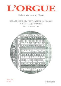 L'Orgue, n° 267 (2004-III) Revue Livre Revues - laflutedepan