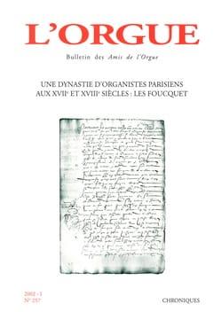 Revue - L'orgue, n° 257 (2002/I) - Livre - di-arezzo.fr