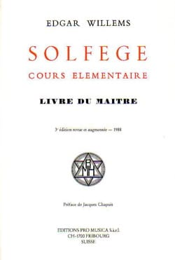 Edgar WILLEMS - Solfeggio Elementary Course: Teacher's Book - Book - di-arezzo.com
