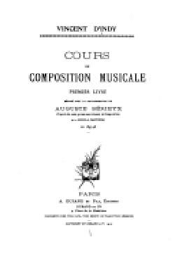 Cours de composition musicale, premier livre laflutedepan