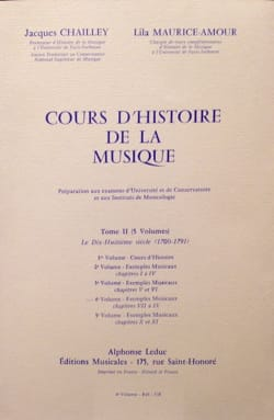 CHAILLEY Jacques / MAURICE-AMOUR Lila - History of Music Course: Volume 2 vol. 4 - Book - di-arezzo.co.uk