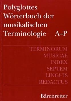Polyglottes Wörterbuch der musikalischen Terminologie (2 vol) laflutedepan