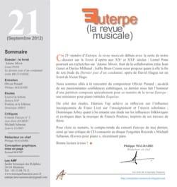 Euterpe, la revue musicale - N° 21 Revue Livre Revues - laflutedepan