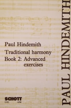 Traditional harmony : Book 2 Paul HINDEMITH Livre laflutedepan
