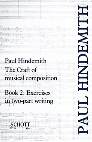 The Craft of musical composition, volume 2 : Exercises in Two-Part Writing - laflutedepan.com