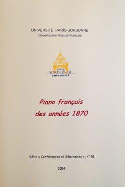 Piano français des années 1870 PISTONE Danièle (dir.) laflutedepan