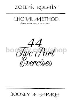 44 two part exercices Zoltan KODALY Livre laflutedepan