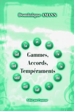 Gammes, accords, tempéraments Dominique AMANN Livre laflutedepan
