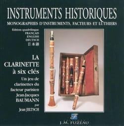 La clarinette à six clés Jean JELTSCH Livre laflutedepan
