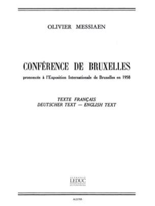 Conférence de Bruxelles MESSIAEN Livre Les Hommes - laflutedepan