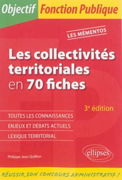 Les collectivités territoriales en 70 fiches, 4ème édition laflutedepan