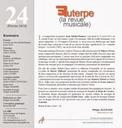 Euterpe, la revue musicale - n° 24 Revue Livre Revues - laflutedepan