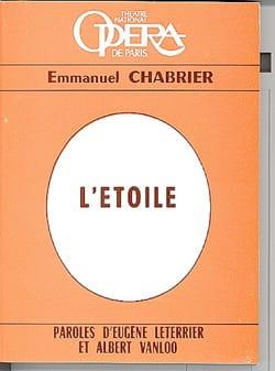 L'étoile (livret) - CHABRIER - Livre - Les Oeuvres - laflutedepan.com