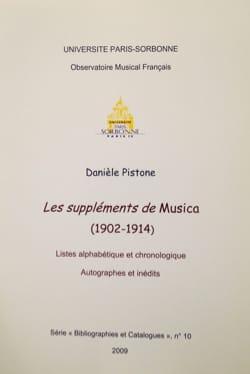 Danièle PISTONE - Supplements of Musica (1902-1914) - Book - di-arezzo.com