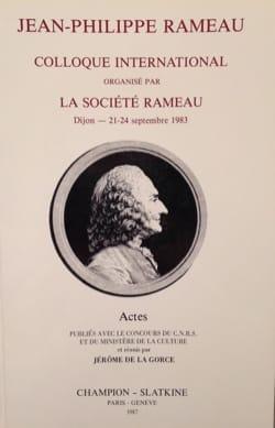 Jean-Philippe Rameau DE LA GORCE Jérôme (dir.) Livre laflutedepan