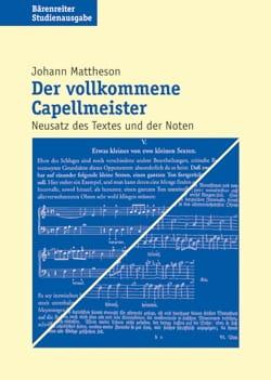Der volkommene Capellmeister (Livre en allemand) - laflutedepan.com